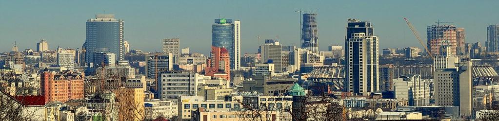 Wolkenkratzen in Kiew 2011