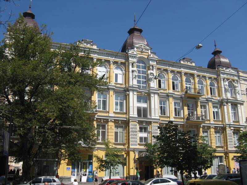 DasHaus im typischen Kiewer Renaissance-Stil in Kiew