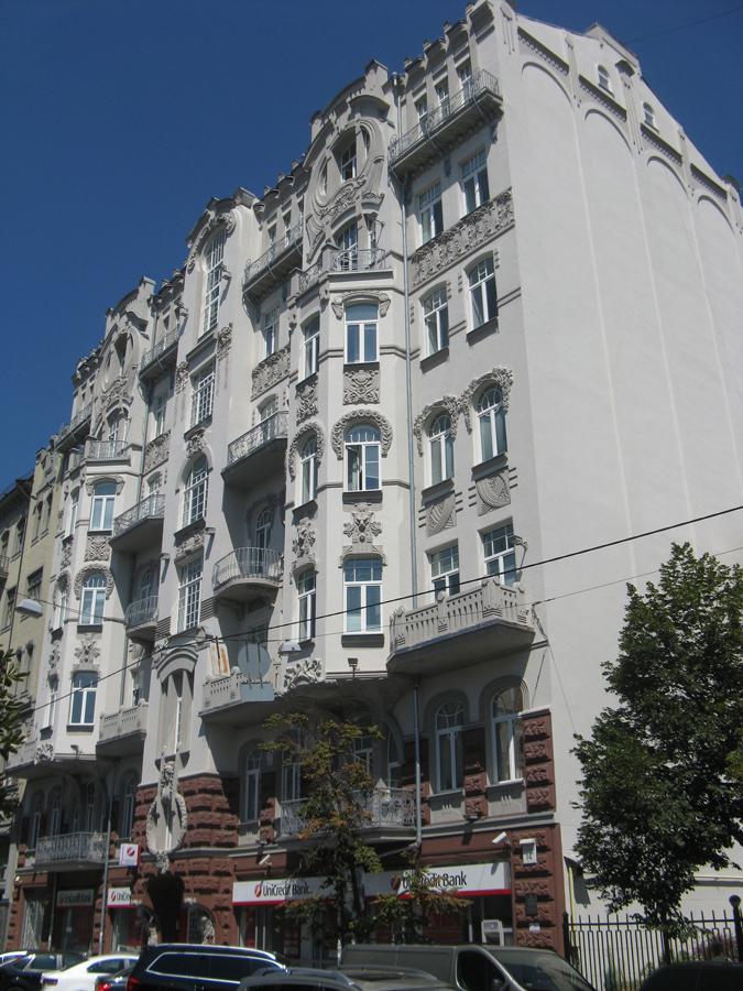 Das Mietshaus im Jugendstil in Kiew