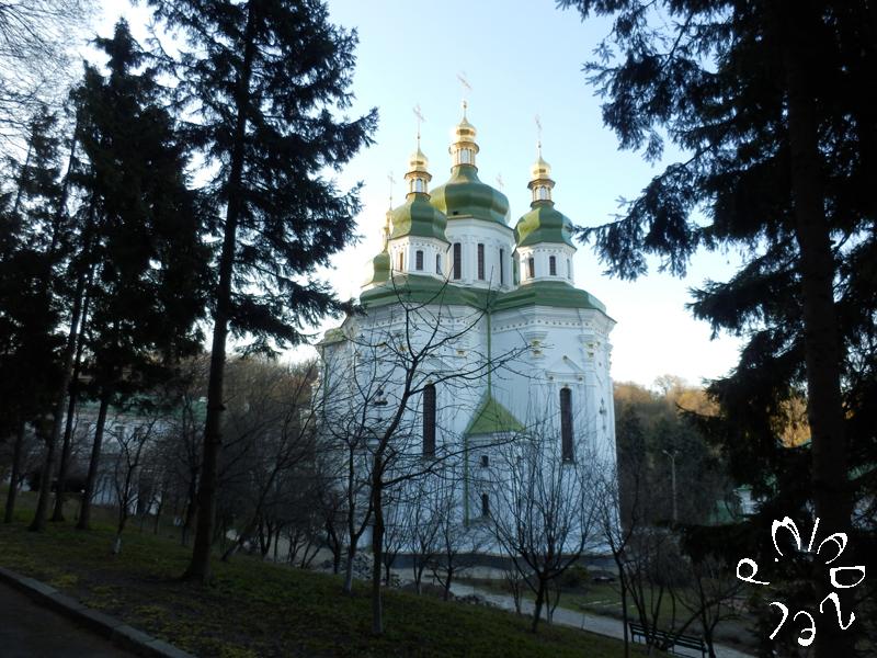 Die fünfkupplige Sankt-Georg-Kirche des Wydubyzkyj-Klosters