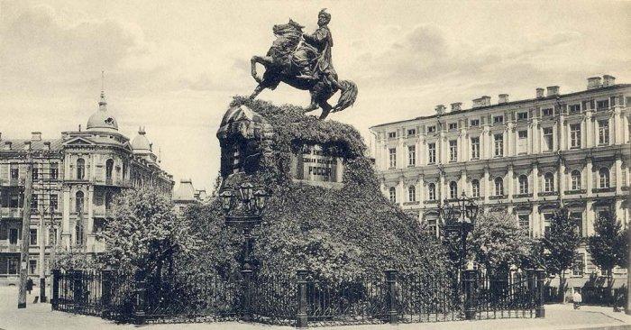 Reiterdenkmal Chmelnyzkyjs