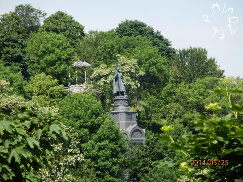 Panoramablick auf Wolodymyr-Täufer-Denkmal