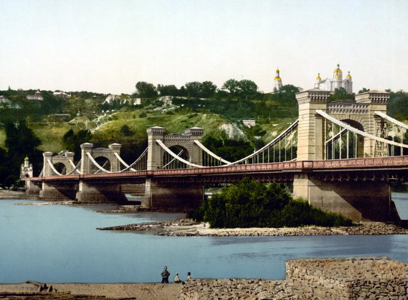 Nikolaus-Kettenbrücke in Kiew