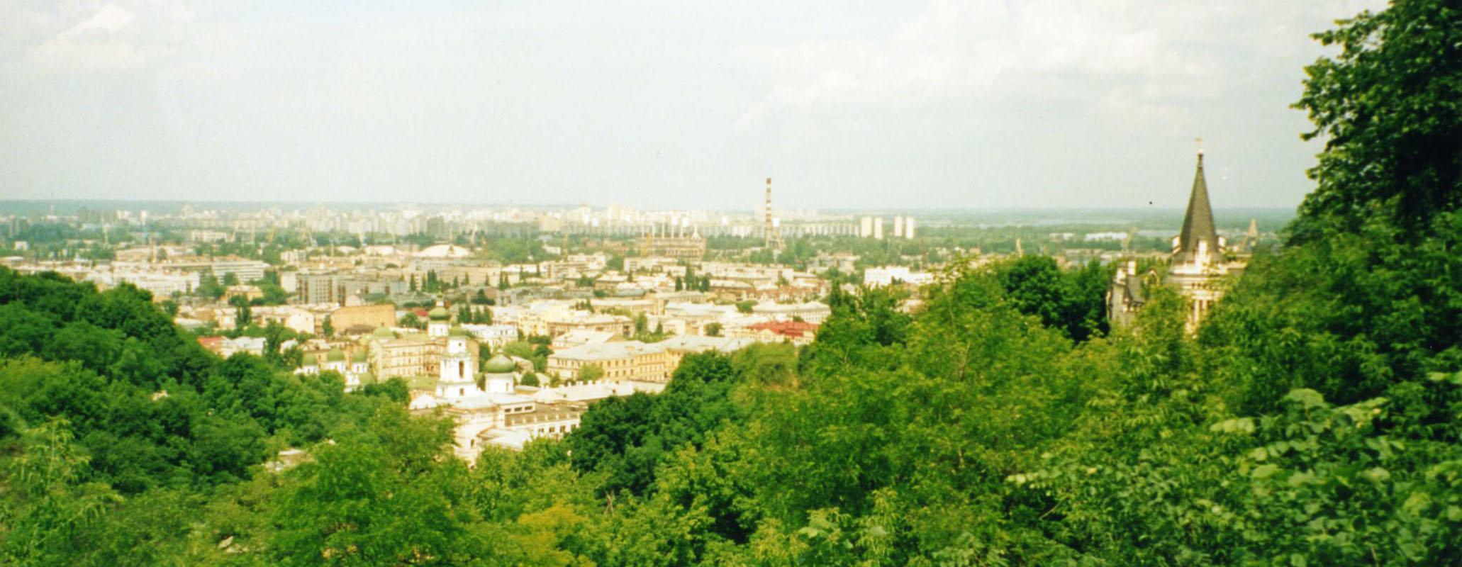 Panoramablick auf Kiew