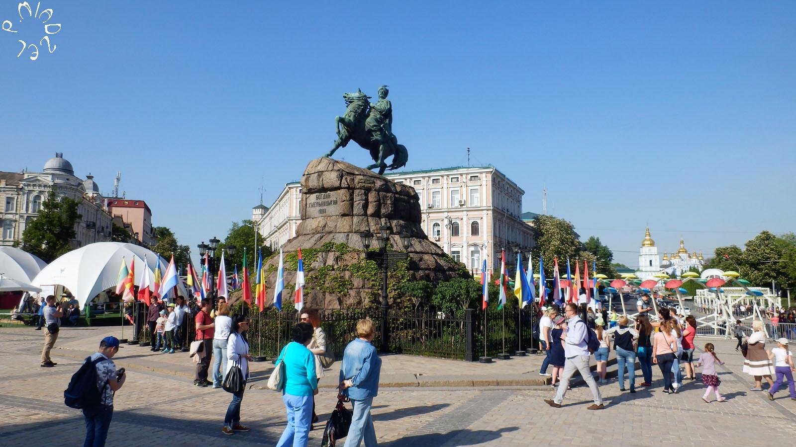 Eurovision-Fanmeile auf dem Sophienplatz. Bildrechte: Pavlo Miadzel