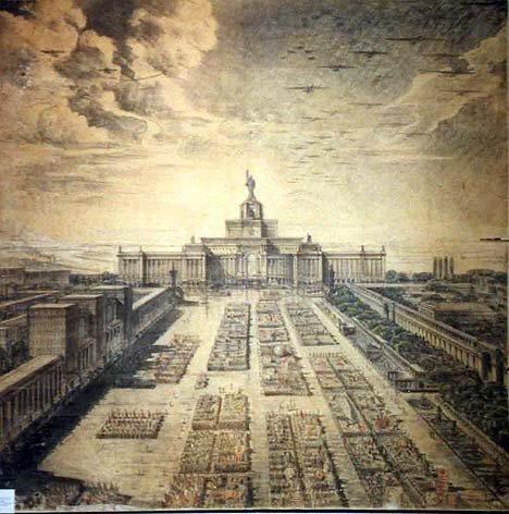 Entwurf des Regierungszentrums in Kiew. 1934