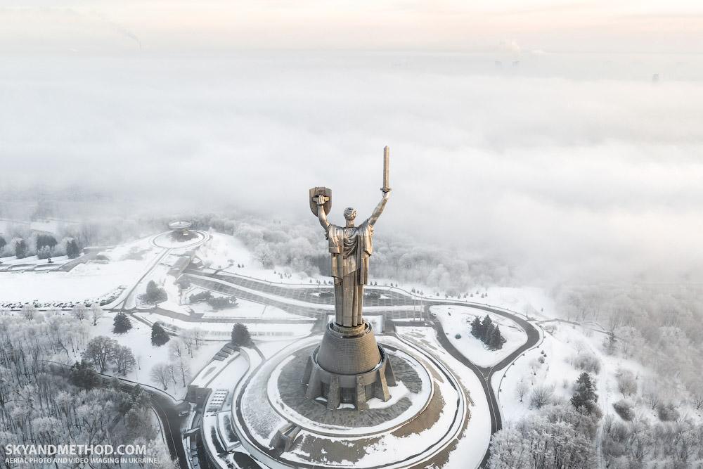 Mutter-Heimat-Statue in Kiew