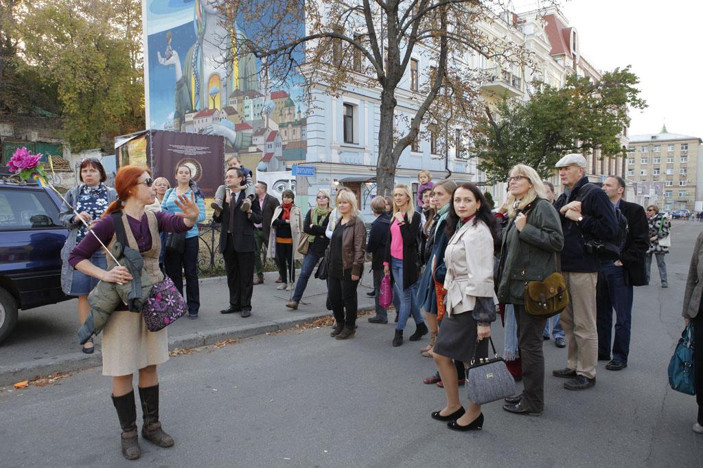 Während der Exkursion für die Gäste der Konferenz des Goethe-Instituts Ukraine