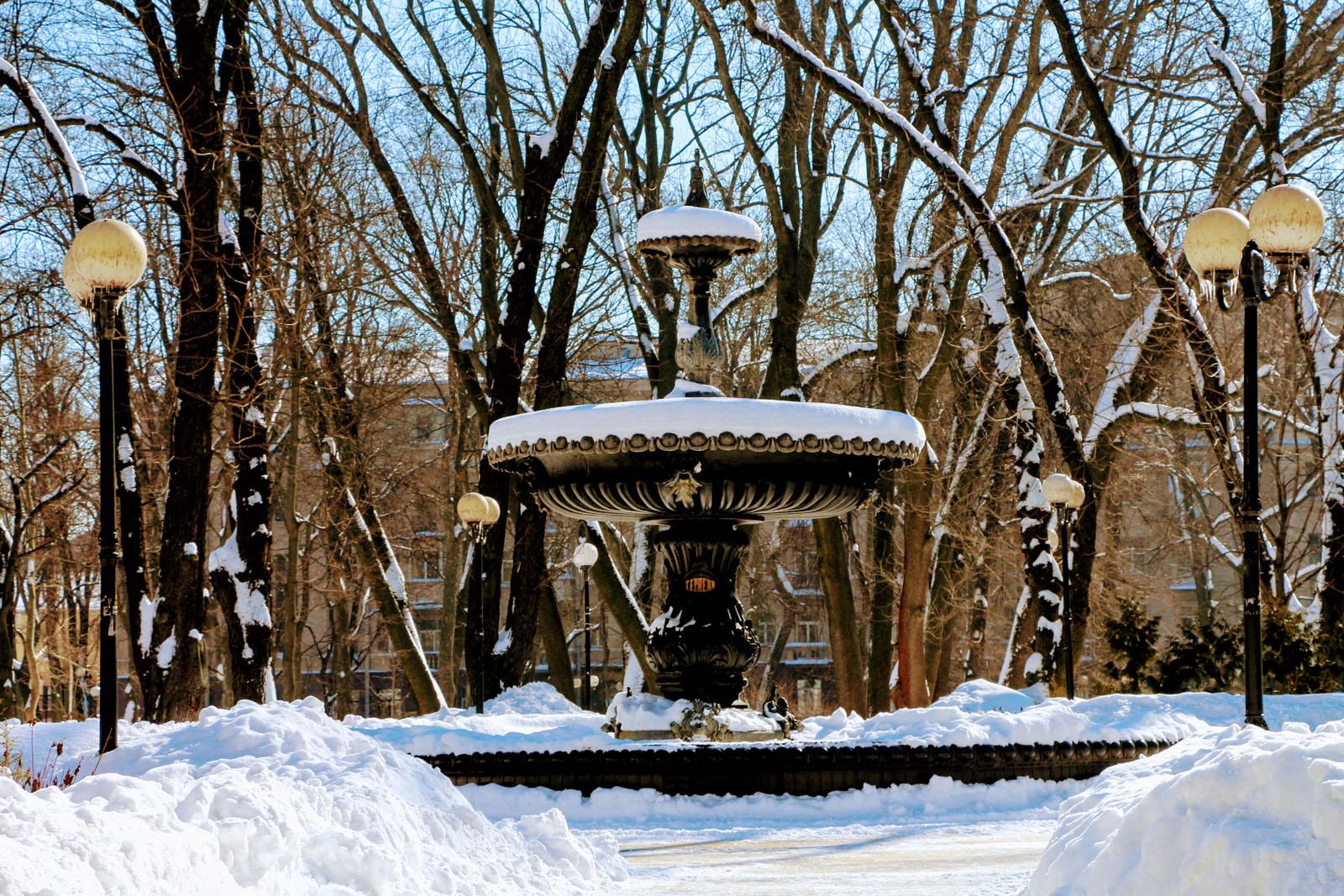 Springbrunnen im Marijinskyj Park